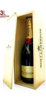 CHAMPAGNE MOET ET CHANDON BRUT IMPERIAL - Wooden case - Jeroboam 3L (France - Champagne - Champagne AOC - White Champagne - 3 L)