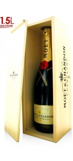 CHAMPAGNE MOET ET CHANDON BRUT IMPERIAL - WOODEN CASE - Magnum 1.5L (France - Champagne - Champagne AOC - White Champagne - 1,5
