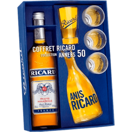 GIFT SET RICARD ANNEES 50 - SPECIAL EDITION + 1 CARAFE & 4 GLASSES