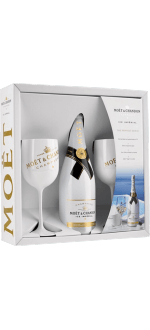 CHAMPAGNE MOET ET CHANDON - ICE IMPERIAL - GIFT SET 2 CHAMPAGNE FLUTES
