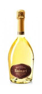 CHAMPAGNE RUINART, White de Whites ( France-Champagne-Champagne AOC-White-0,75L ) etiquette abimee
