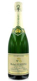 CHAMPAGNE MICHEL FURDYNA- DEMI SEC - CARTE BLANCHE - ( France-Champagne-Champagne AOC-White-0,75L ) etiquette abimee