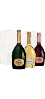 CHAMPAGNE RUINART - GIFT SET COLLECTION 3 BOTTLES - BLANC DE BLANCS - ROSE - BRUT