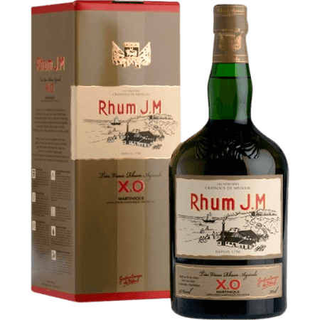 RUM J.M. - TRES VIEUX RUM AGRICOLE - X.O. - IN PRESENTATION CASE