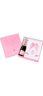 CHAMPAGNE LANSON PINK BOTTLE AND BRANDED PINK FLUTE SET SAINT TROPEZ