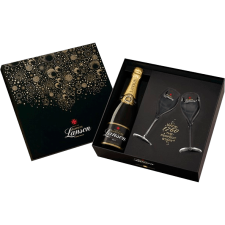 CHAMPAGNE LANSON - GIFT SET NEW YORK 2 CHAMPAGNE FLUTES