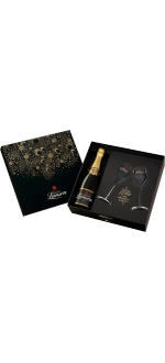CHAMPAGNE LANSON BLACK LABEL WITH 2 CHAMPAGNE FLUTES