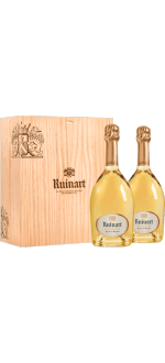 CHAMPAGNE RUINART BLANC DE BLANCS DUO 2X75CL IN WOODEN BOX