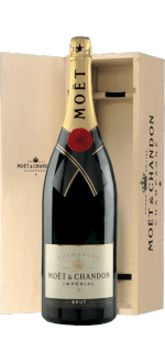 CHAMPAGNE MOET & CHANDON BRUT IMPERIAL JEROBOAM 3L IN WOODEN CASE
