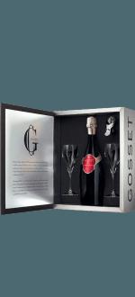 CHAMPAGNE GOSSET GRANDE RESERVE AND 2 GLASSES GIFT SET