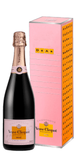 CHAMPAGNE VEUVE CLICQUOT BRUT ROSE - MESSAGE CASE