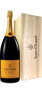 METHUSELAH 6L - CHAMPAGNE VEUVE CLICQUOT YELLOW LABEL BRUT - WOODEN CASE