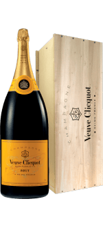 BALTHAZAR 12L - CHAMPAGNE VEUVE CLICQUOT YELLOW LABEL - WOODEN CASE