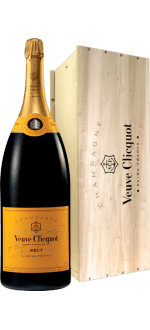 SALMANAZAR 9L - CHAMPAGNE VEUVE CLICQUOT YELLOW LABEL - WOODEN CASE