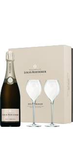 CHAMPAGNE LOUIS ROEDERER - BRUT PREMIER - 1 BOTTLE + 2 GLASSES GIFT BOX