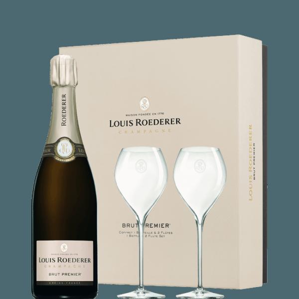 champagne louis roederer gift box 1 bottle 2 glasses. Black Bedroom Furniture Sets. Home Design Ideas