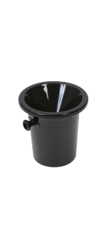 ACRYLIC SPITTOON BLACK - VINOLEM