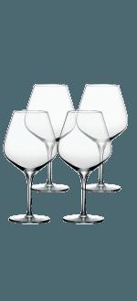 GIFT SET 4 TASTING GLASSES 40CL (TANNIC WINES) - ESPRIT MERLOT - PEUGEOT