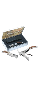 CORKSCREW - TOLEDO SET - WOODEN HANDCRAFTED FINISH + CASE - PULLTEX