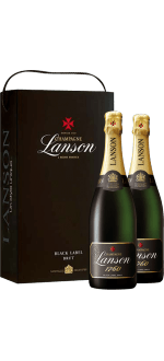CHAMPAGNE LANSON BLACK LABEL BRUT TWIN PACK