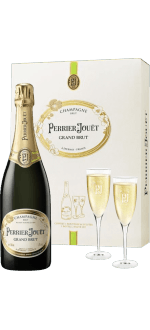CHAMPAGNE PERRIER JOUËT GRAND BRUT AND 2 GLASSES GIFT SET