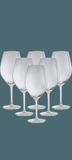 6 CRYSTAL WINE GLASSES 62CL - GIFT SET - TUTTOVINO