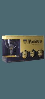 GIFT SET MAREDSOUS 3X33CL + 1 GLASS - ABBAYE DE MAREDSOUS