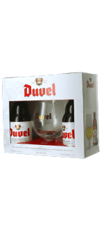 GIFT SET DUVEL 2*33CL + 1 GLASS - BREWERY DUVEL MOORTGAT