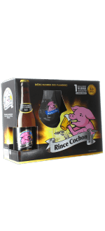 GIFT SET RINCE COCHON - 3 x 33CL BEERS + 1 GLASS - BREWERY HAACHT