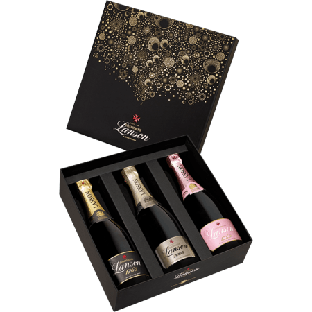 CHAMPAGNE LANSON TRIO SAN FRANCISCO IN GIFT BOX
