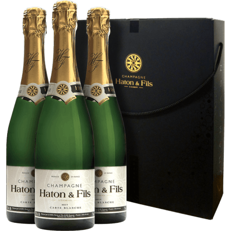 CHAMPAGNE HATON & FILLES - GIFT SET CARTE BLANCHE - 3 BOTTLES