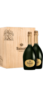 CHAMPAGNE RUINART BRUT DUO 2X75 CL IN WOODEN BOX
