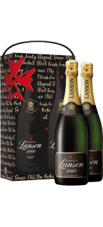 CHAMPAGNE LANSON - GIFT SET PARIS 2 BOTTLES