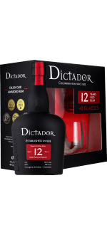 RUM DICTADOR 12 YEARS OLD - EN GIFT SET 2 GLASSES