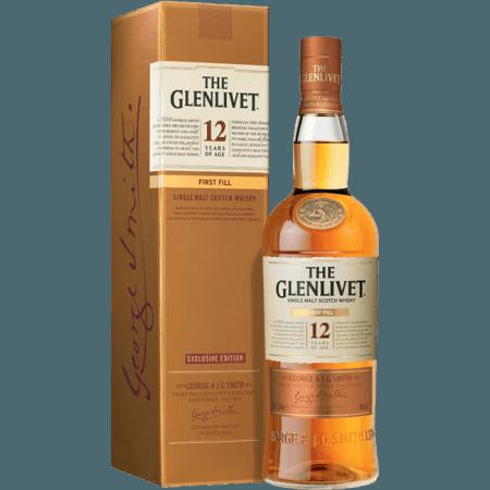 THE GLENLIVET FIRST FILL 12 YEAR OLD - EN ETUI