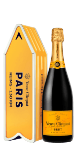 CHAMPAGNE VEUVE CLICQUOT - BRUT CARTE JAUNE - EN GIFT SET ARROW