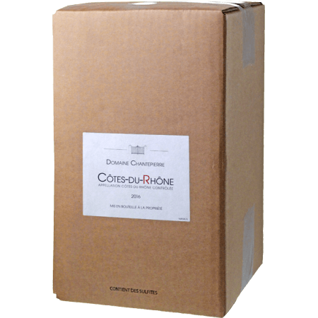 BOXED WINE - BIB - COTES DU RHONE 2017 - DOMAINE CHANTEPIERRE