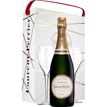 CHAMPAGNE LAURENT PERRIER - LA CUVEE - EN GIFT SET 2 GLASSES