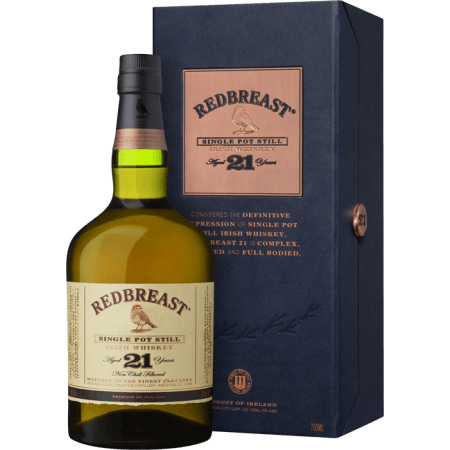 REDBREAST 21 YEARS OLD SINGLE POT STILL - EN GIFT SET