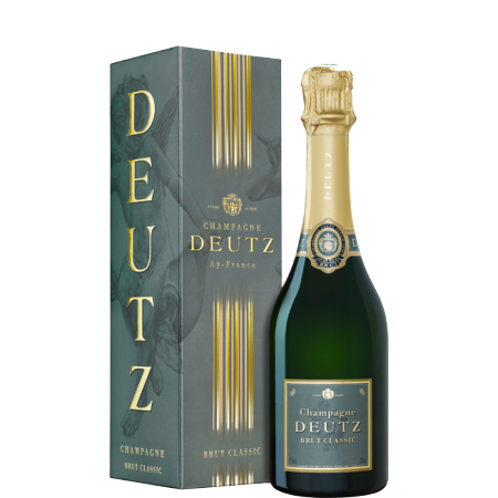 CHAMPAGNE DEUTZ BRUT CLASSIC HALF BOTTLE 37.5CL IN GIFT PACK