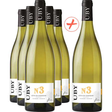 UBY White Wine - Pack of 5 + 1 FREE