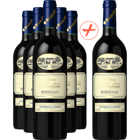 Chateau JEAN DE MARCEAU Bordeaux - Pack of 5 + 1 FREE