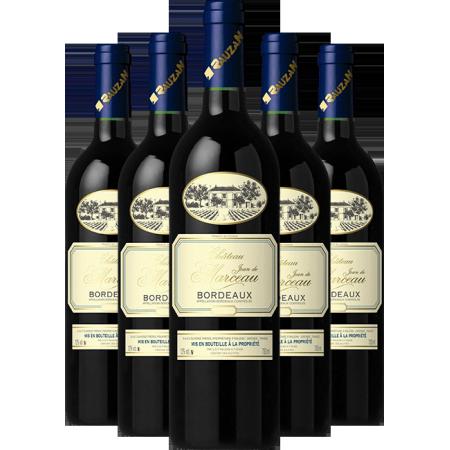 Chateau JEAN DE MARCEAU Bordeaux - Pack of 6 DISCOUNTED