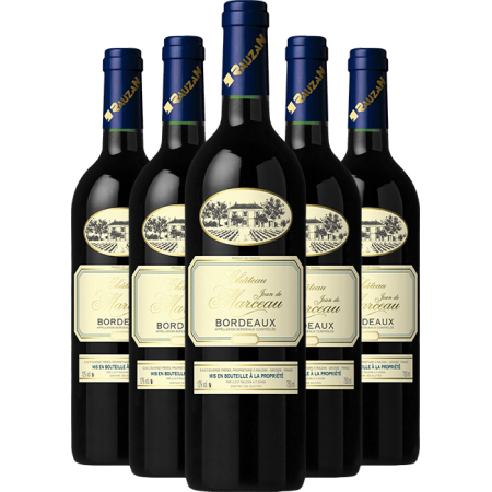 Chateau JEAN DE MARCEAU Bordeaux 6 Pack - FREE SHIPPING with code FREEDELIV