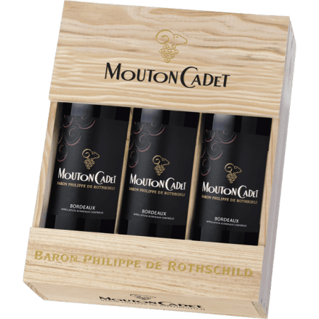 GIFT SET 3 BOTTLES MOUTON CADET 2016 - BARON PHILIPPE DE ROTHSCHILD