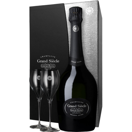 CHAMPAGNE LAURENT-PERRIER - GRAND SIECLE - EN GIFT SET 2 GLASSES LUXE