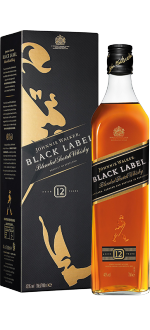 JOHNNIE WALKER BLACK LABEL 12 YEARS OLD - IN PRESENTATION CASE
