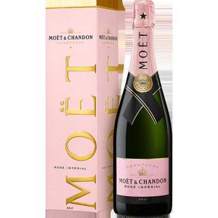 CHAMPAGNE MOET & CHANDON BRUT ROSE IN GIFT BOX