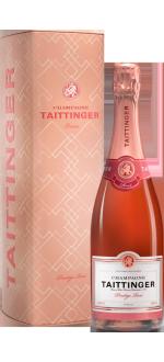 CHAMPAGNE TAITTINGER BRUT PRESTIGE ROSE - EN GIFT SET METAL