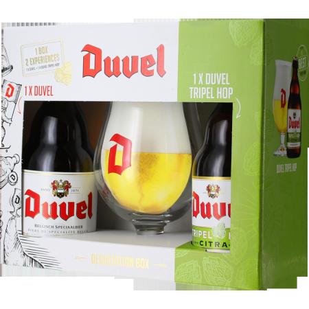 GIFT SET DUVEL 2*33CL (DUVEL + TRIPEL HOP CITRA) + 1 GLASS - BRASSERIE DUVEL MOORTGAT